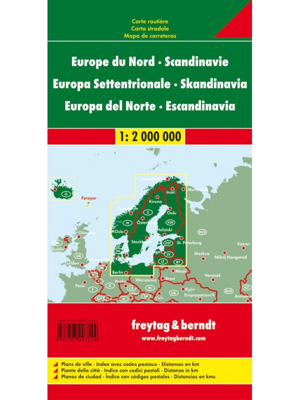 Mapa Skandinávie