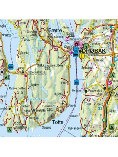 Skandinávie - detail mapy