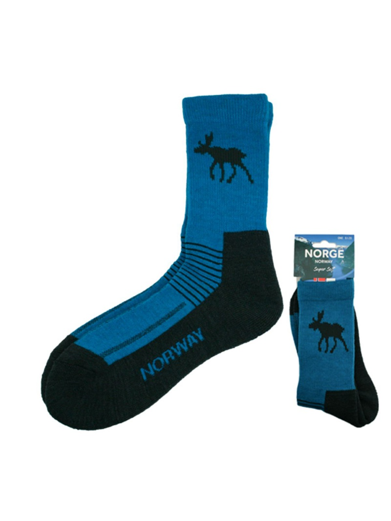 ponožky Norway s losem modré