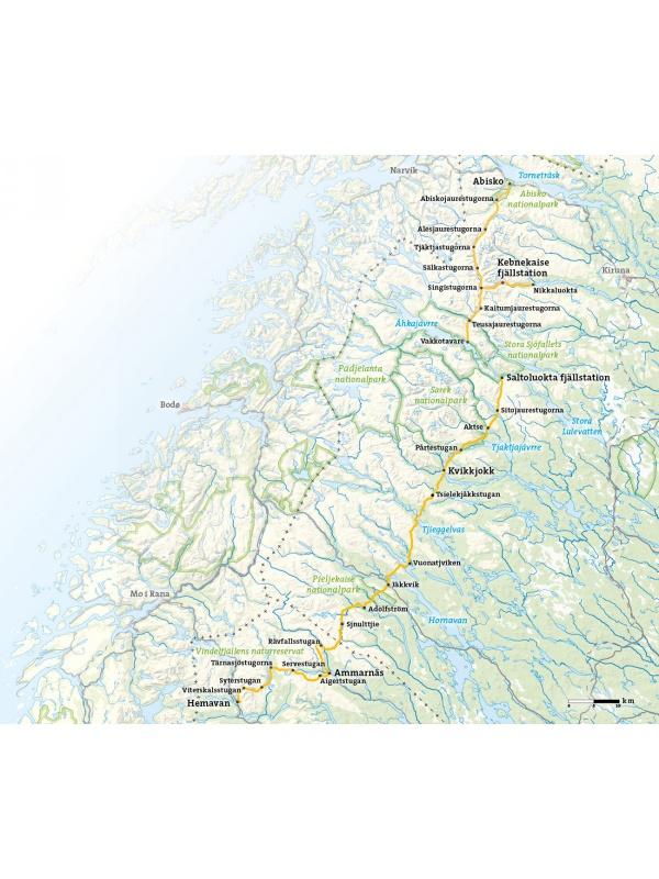 Kungsleden plán trasy