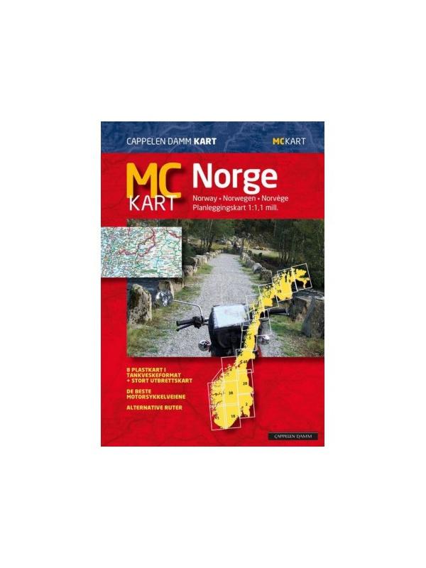 Mapa Norska pro motorkáře