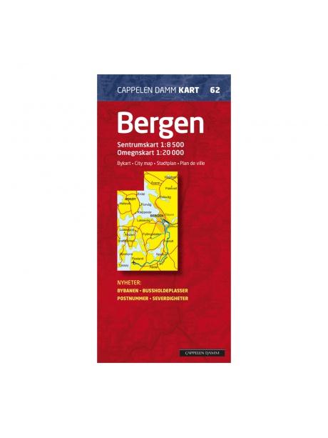 Bergen - podrobná mapa města