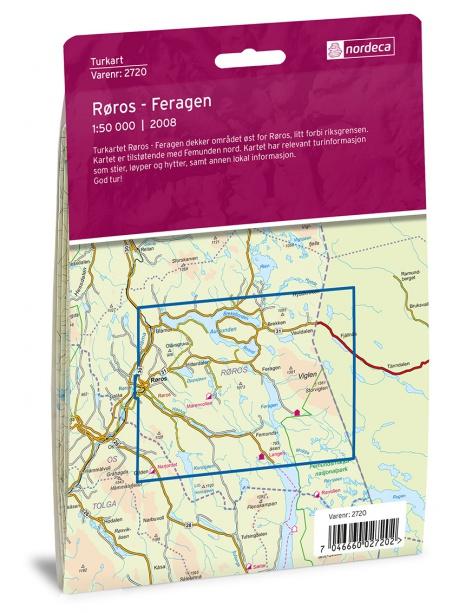 Roros - mapa