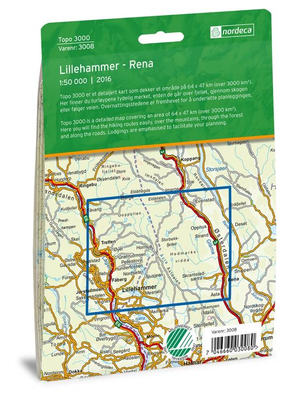 Lillehammer - Rena zadní strana obalu