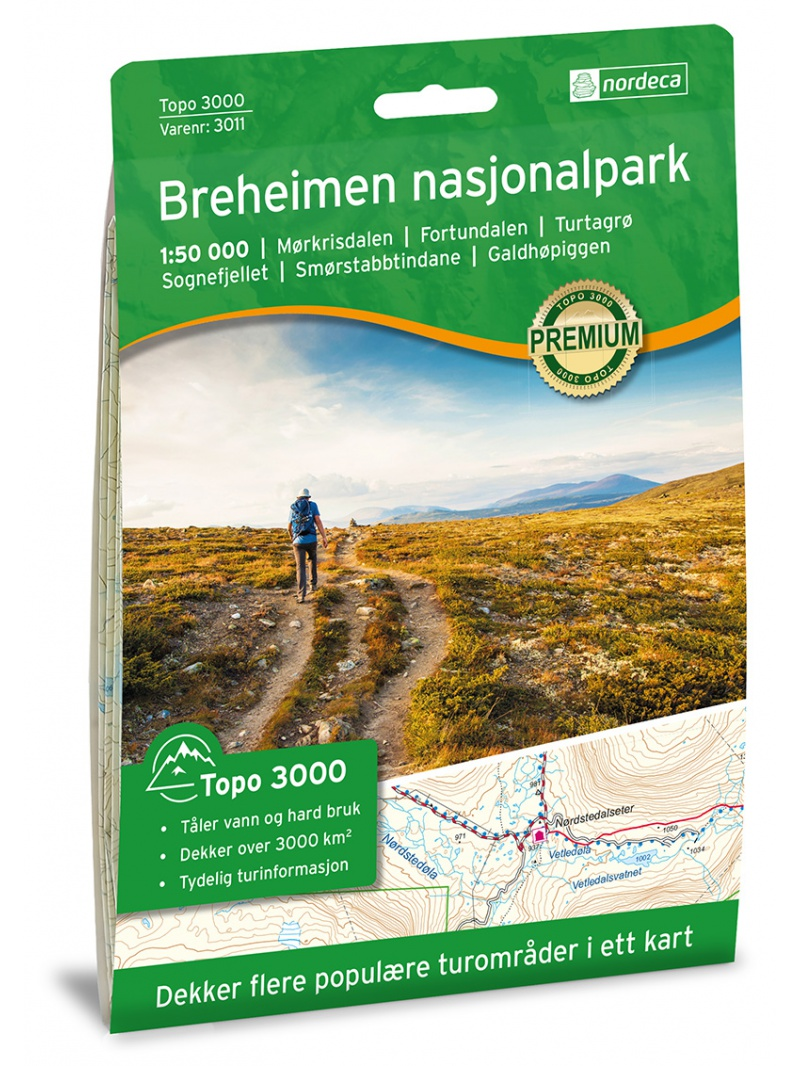 Breheimen - mapa