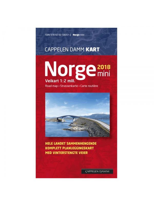 Norge mini veggkart