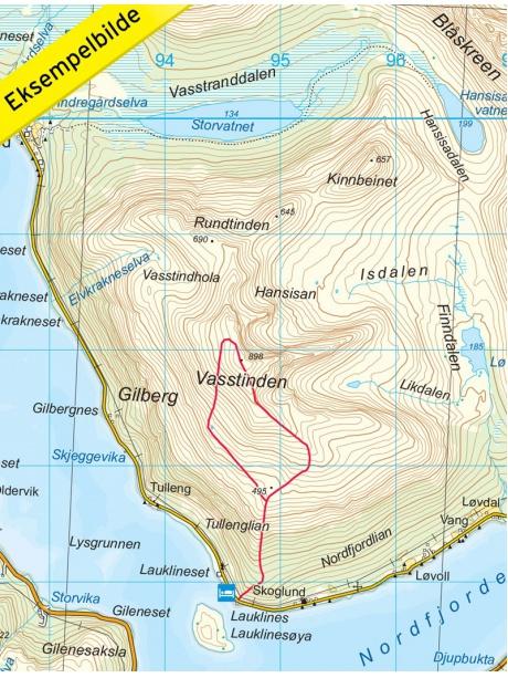 Tromso - Kvaloya - detail mapy