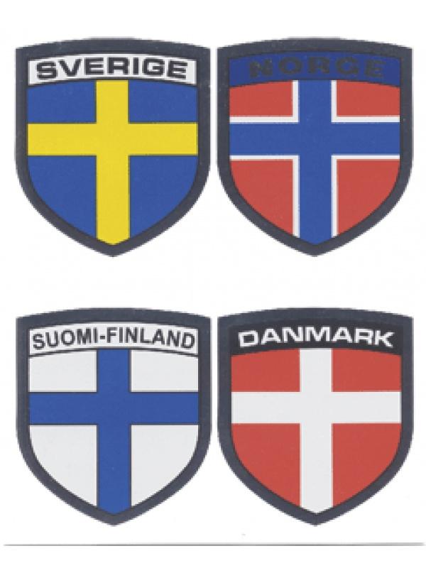 samolepka severkých zemí
