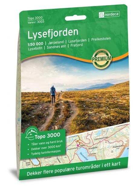 Lysefjorden - turistická mapa