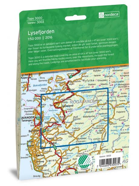 Lysefjorden zadní strana obalu
