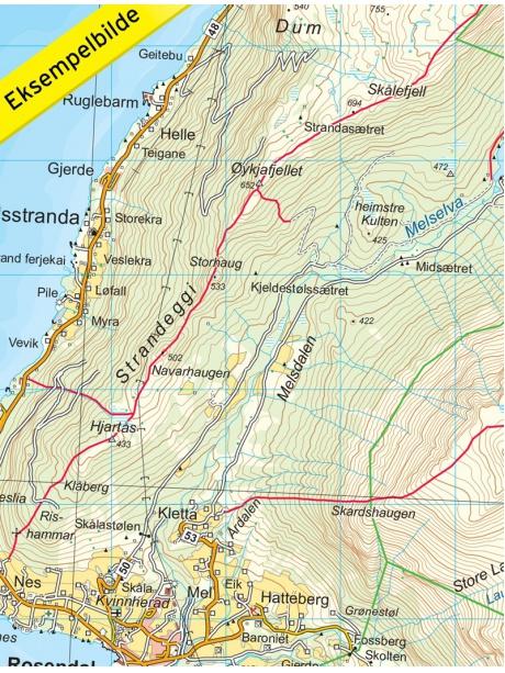 Folgefonna detail mapy