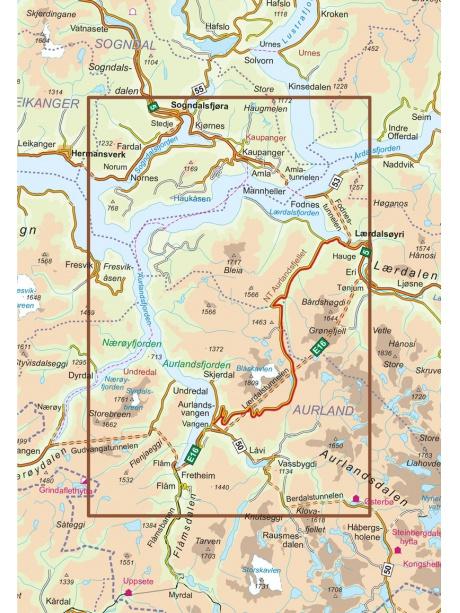Aurlandsfjellet mapa