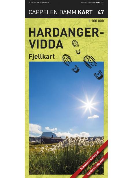 Hardangervidda - turistická mapa