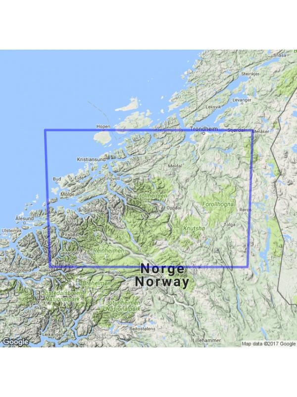 Dovrefjelln mapa