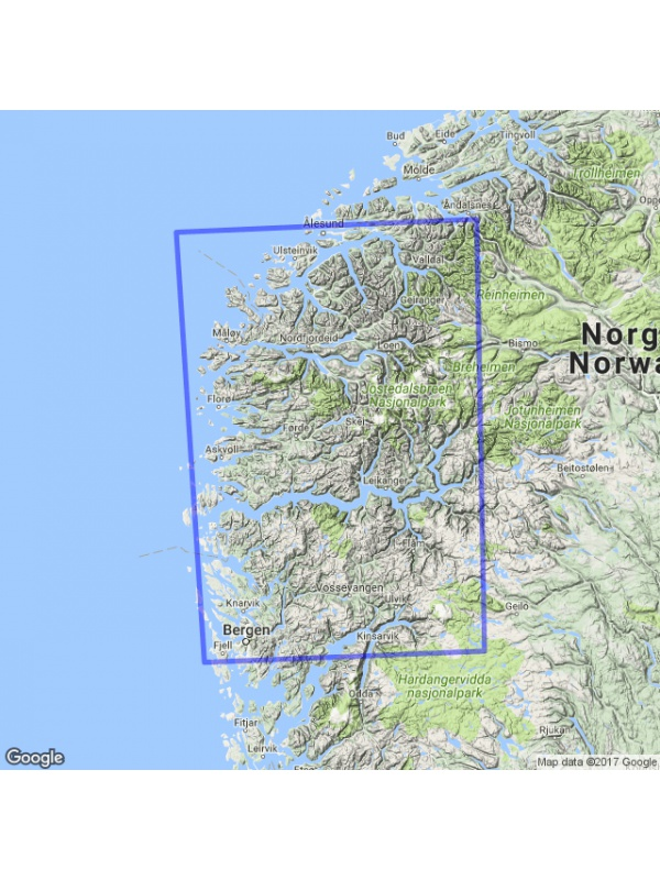 Vestlandet mapa