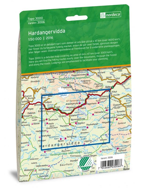 Hardangervidda - zadní strana obalu