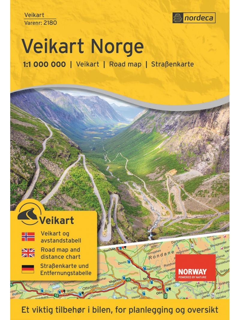 Veikart Norge 1:1 000 000