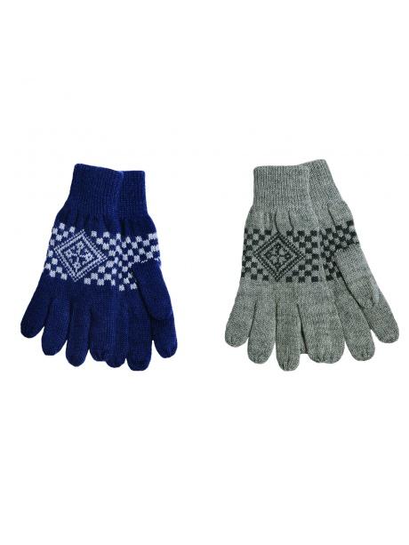 vlněné rukavice šedé