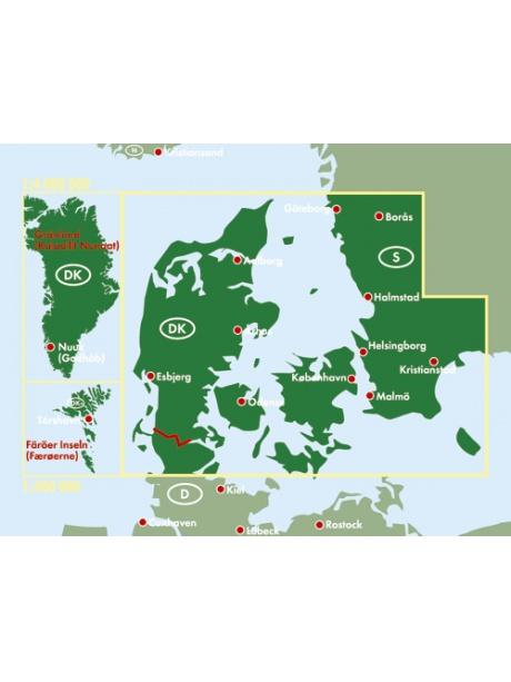 Mapa Dánsko -přehled