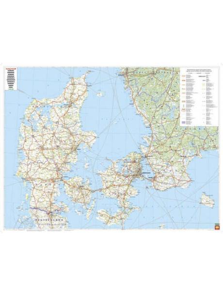 Mapa Dánsko celá