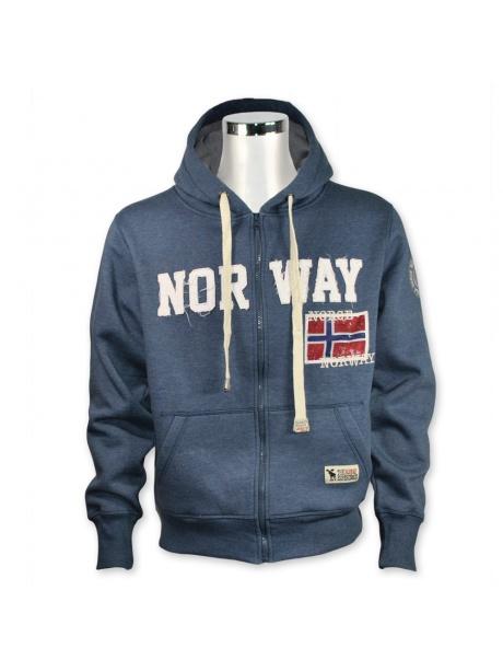 Mikina Norway s kapucí a vlajkou
