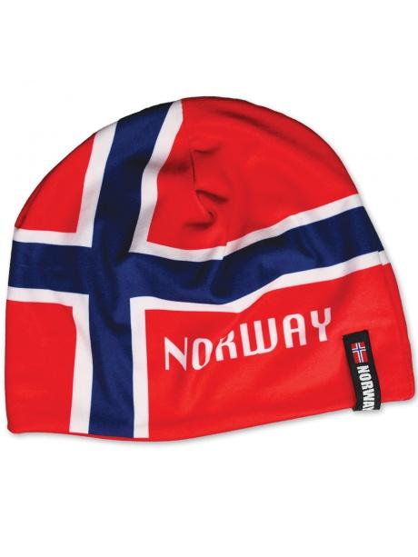 čepice s norskou vlajkou