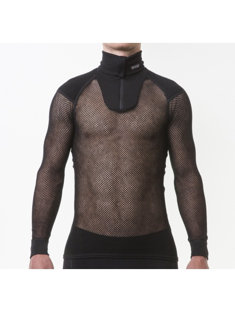 Wool Thermo Zip Polo model