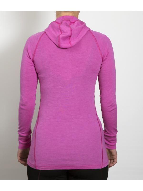 Classic Wool Hoodes sweater - záda pink