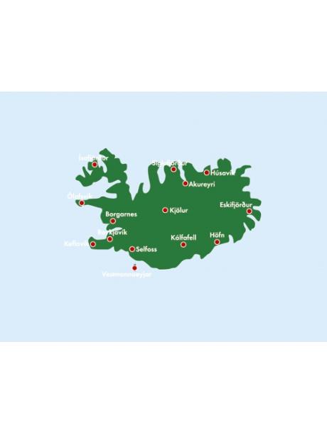 Island - mapa