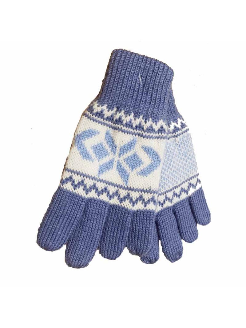 dětské rukavice modrobílé