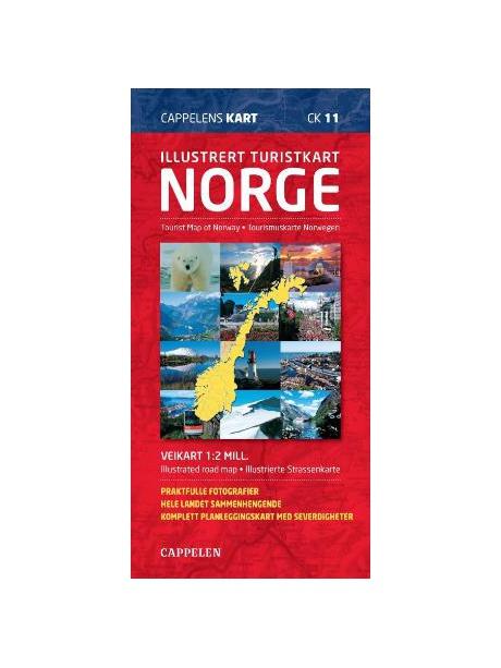 ilustrovaná mapa Norska