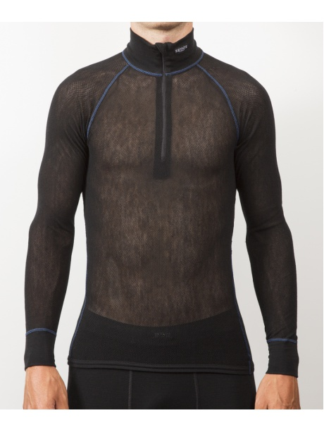 Wool Thermo Light Zip polo model