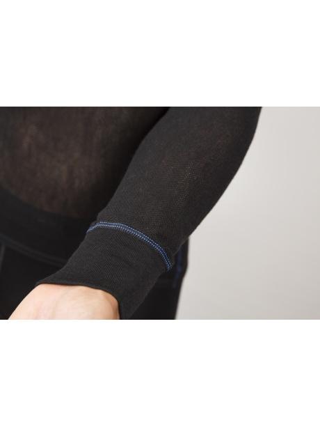 Wool Thermo Light Zip polo detail rukáv