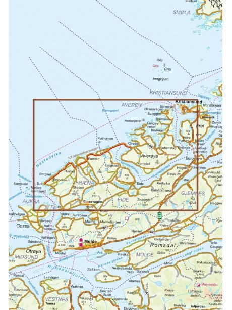 Atlanterhavsvegen mapa