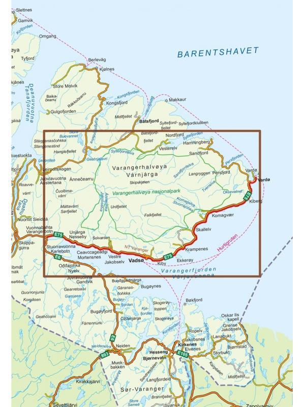 Varanger - mapa