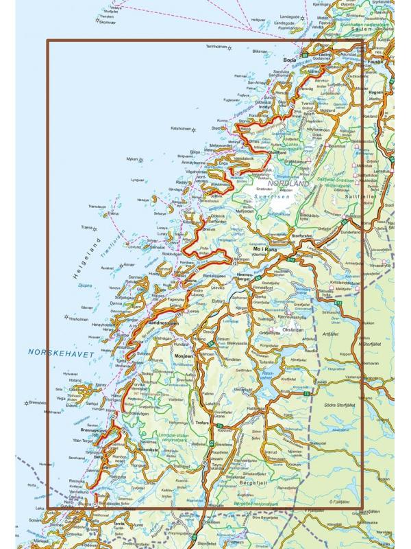 Helgelandskysten mapa