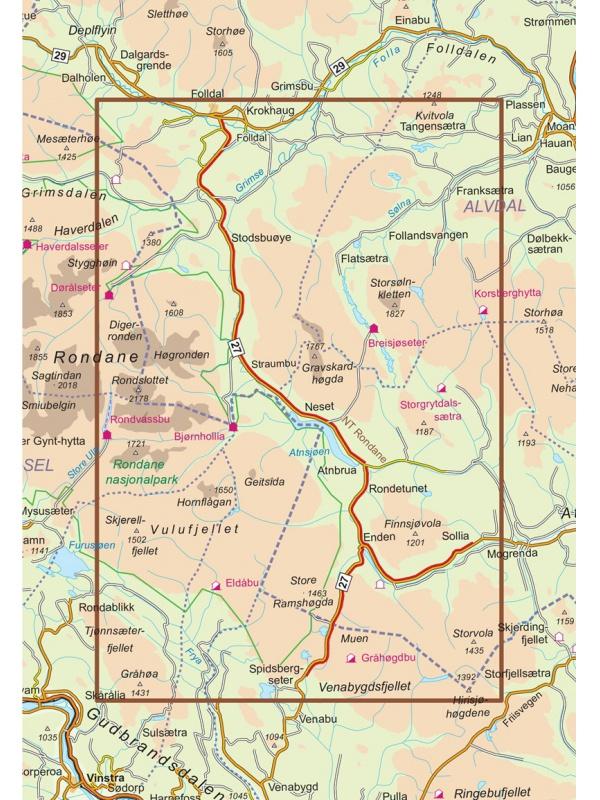Rondane mapa