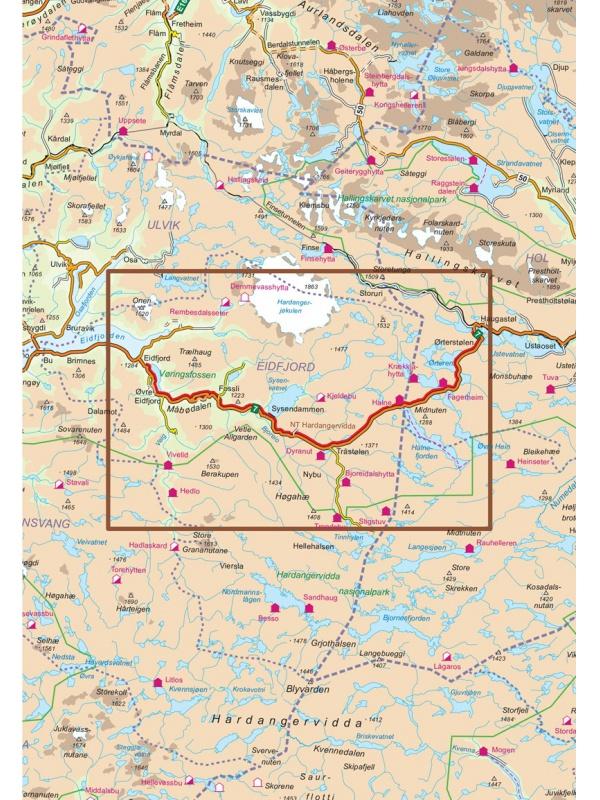 Hardangervidda mapa