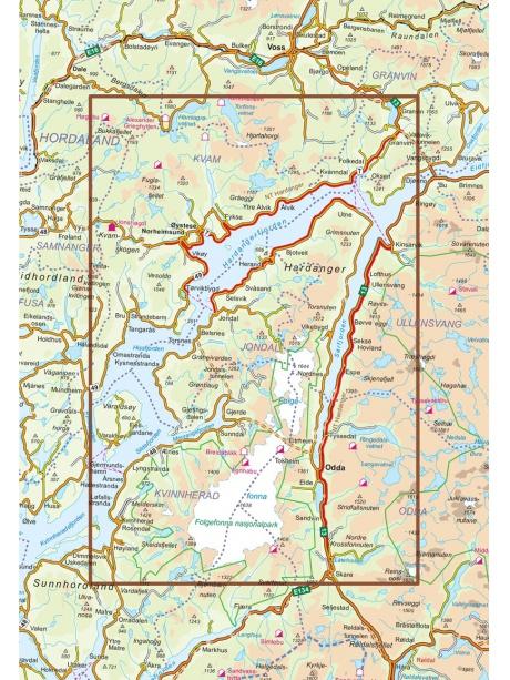 Hardanger mapa