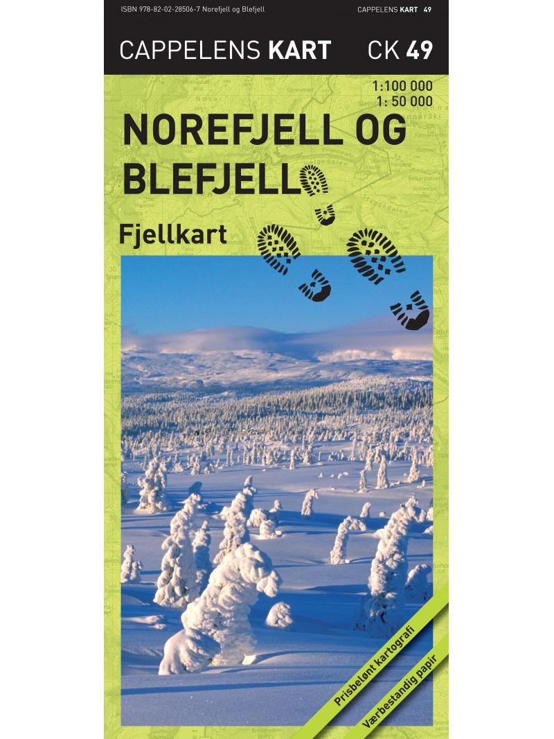 Norefjell a Blefjell - turistická mapa