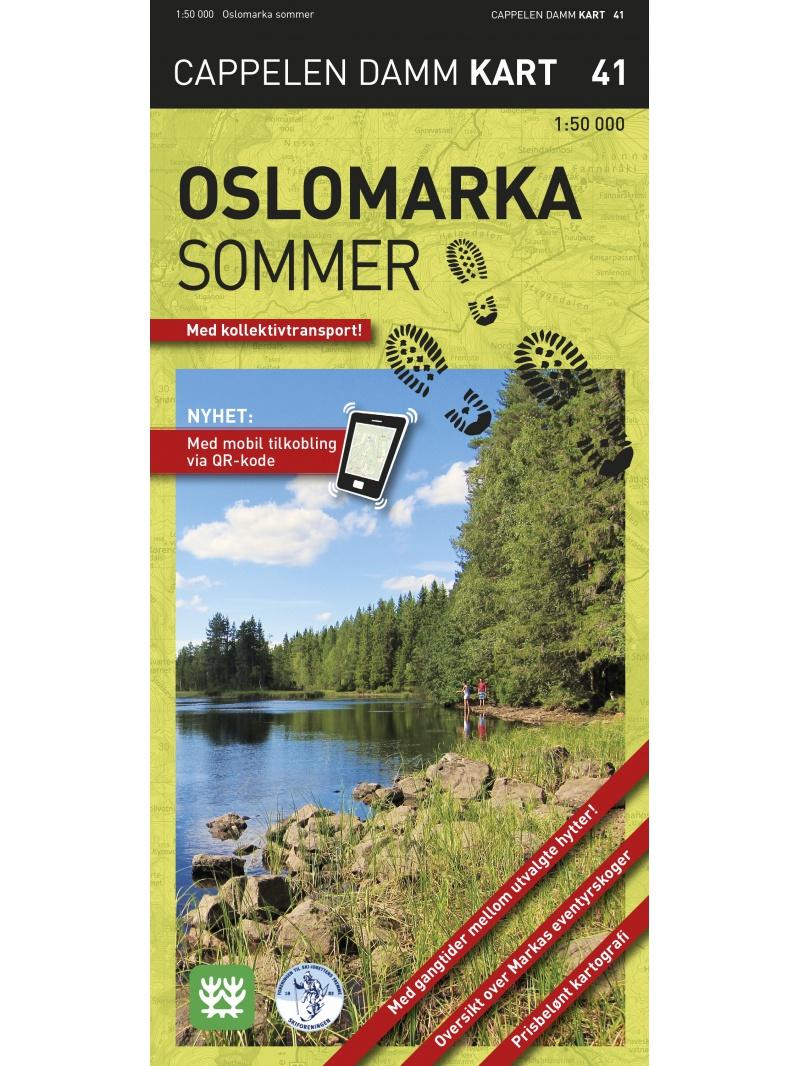 Oslomarka letní - turistická mapa