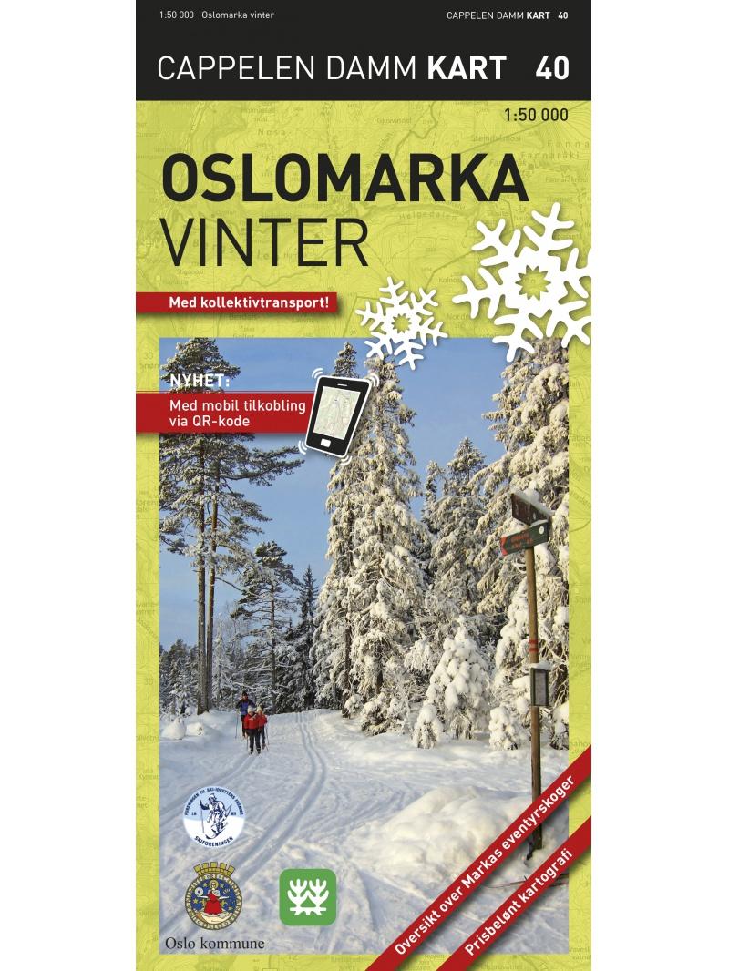 Oslomarka zimní - turistická mapa
