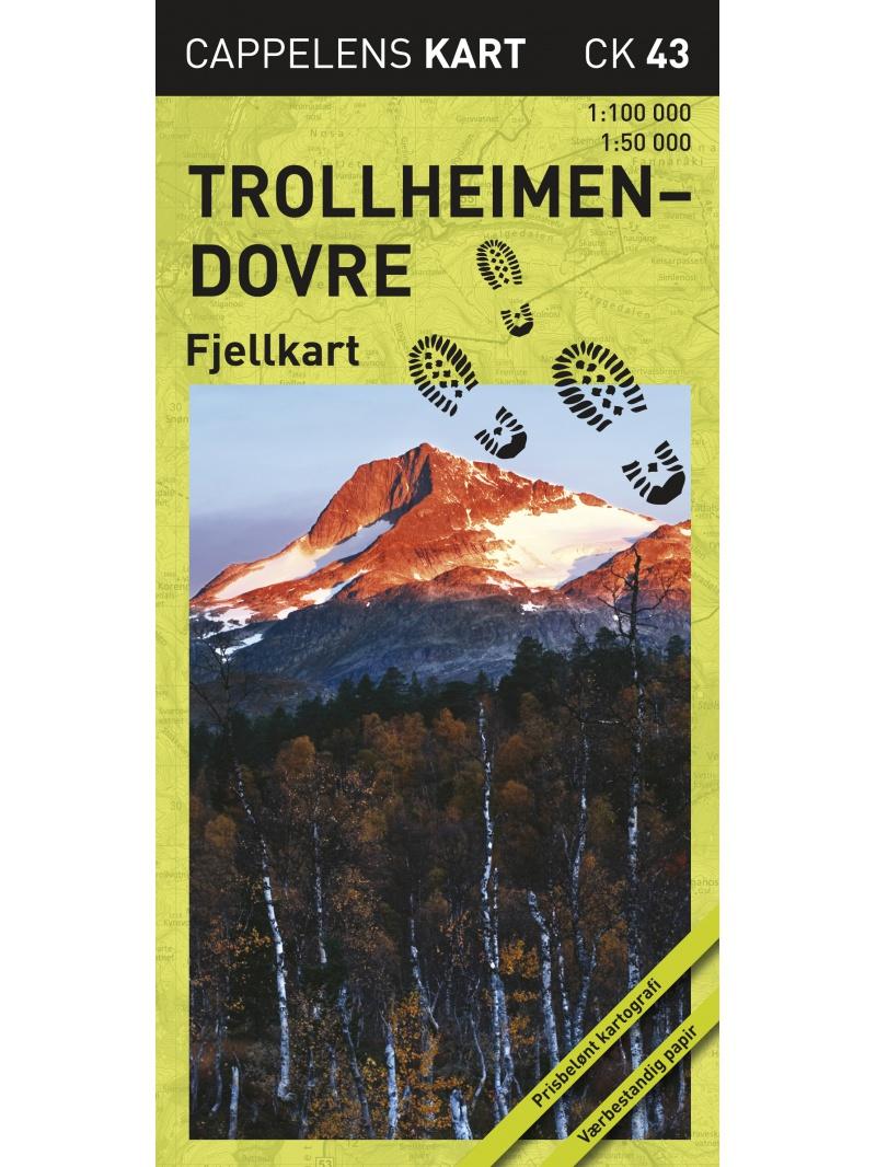 Trollheimen-Dovre - turistická mapa