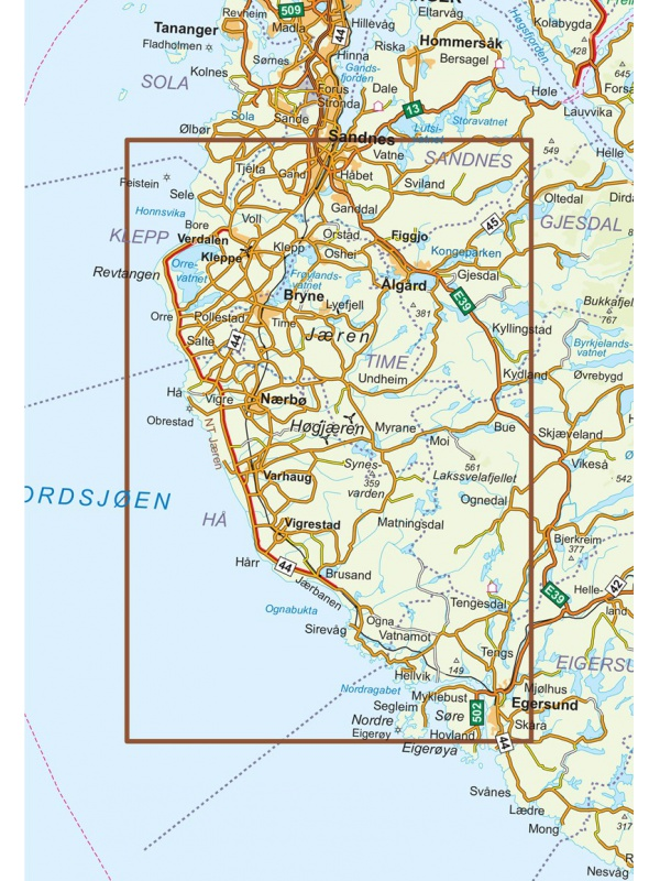 Jaeren mapa