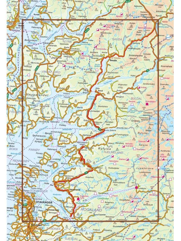 Ryfylke mapa