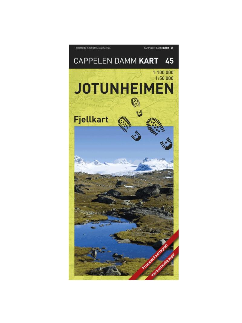 Jotunheimen  - turistická mapa