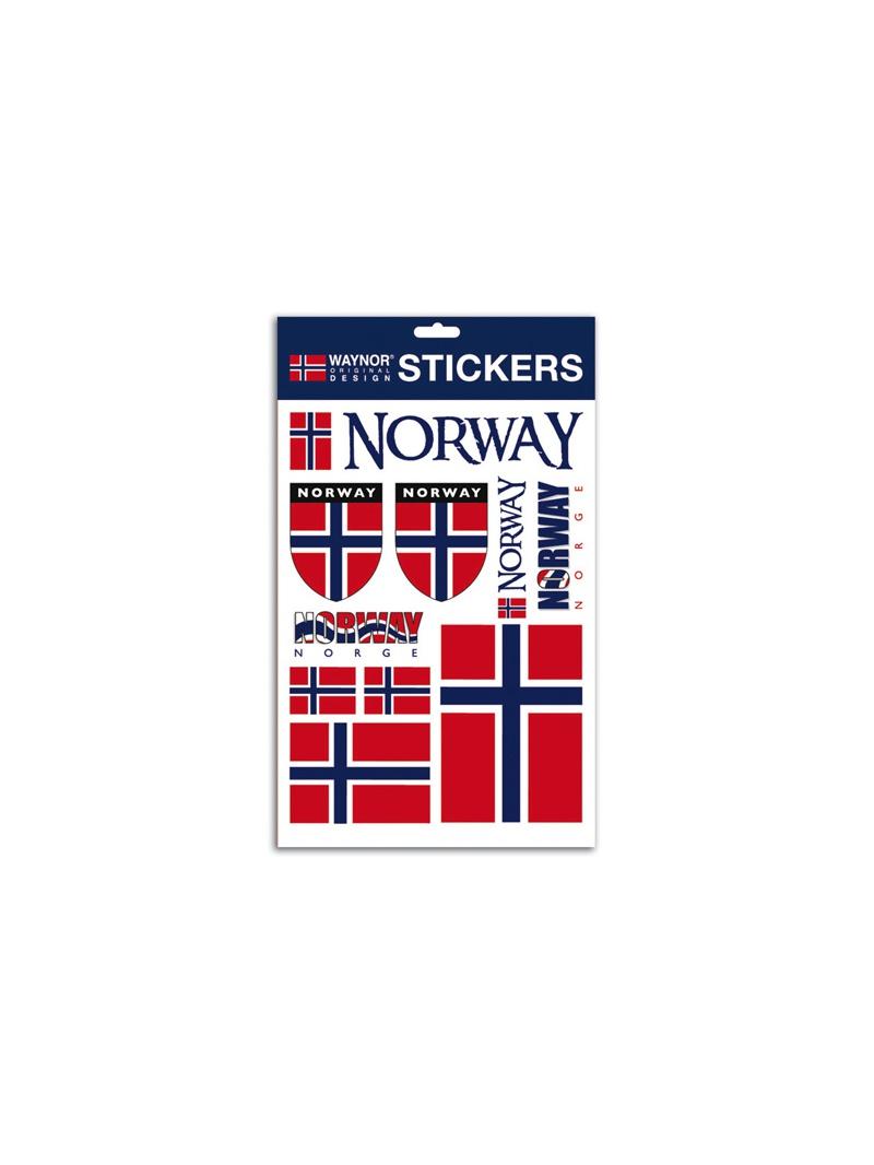 Arch samolepek s norskou vlajkou