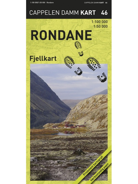 Rondane  - turistická mapa