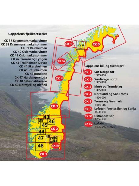 Přehled map série Fjellkart