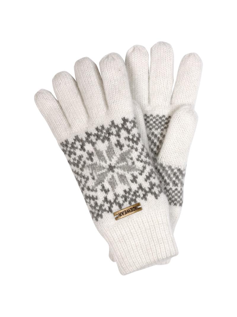 Angora rukavice bílé